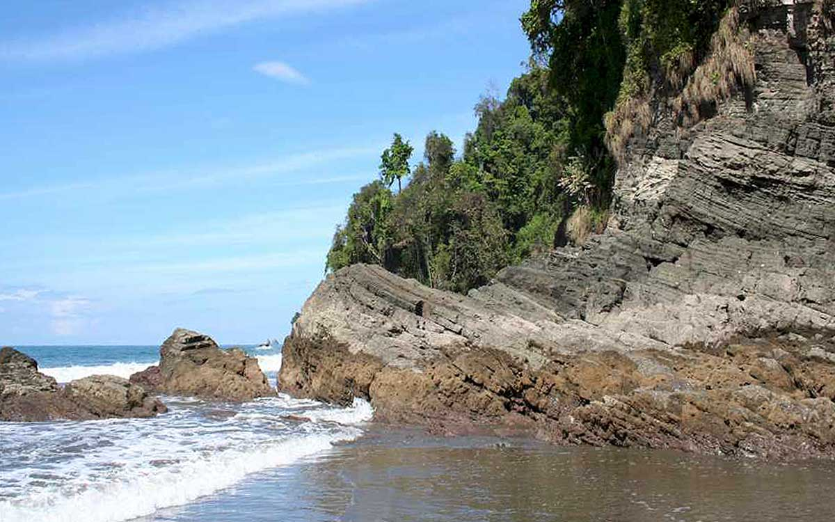 Costa Rica beach resort surrounding nature.