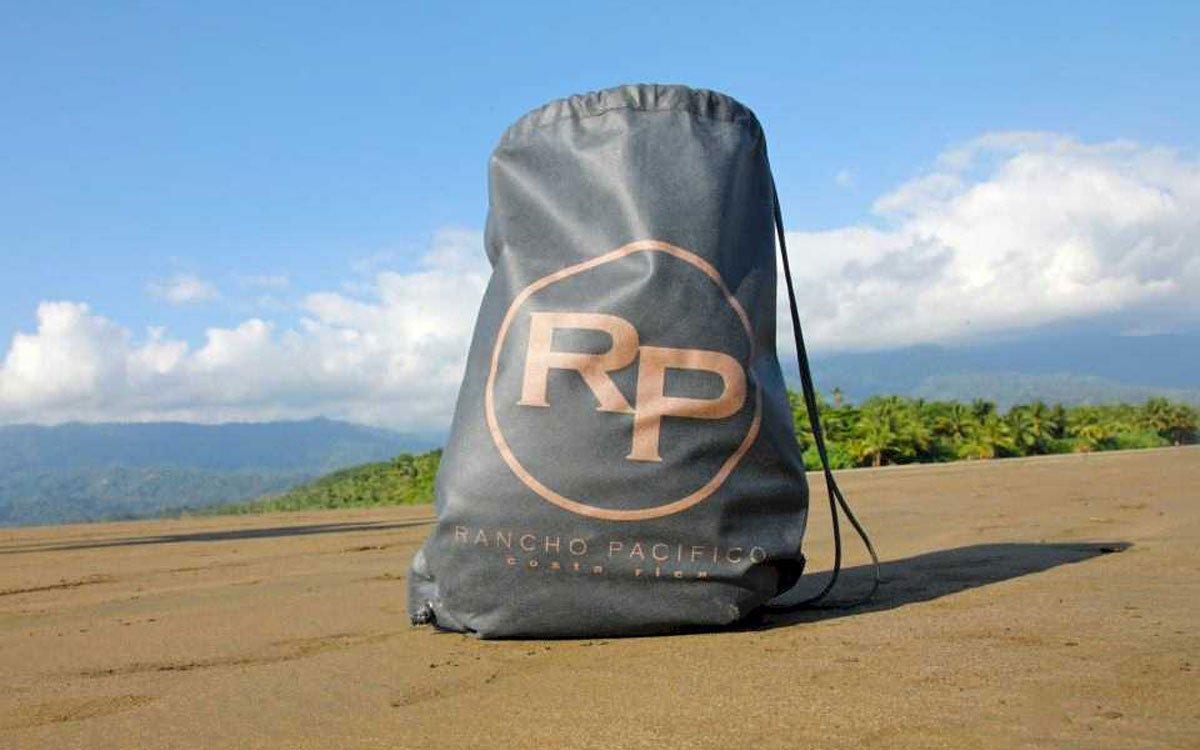 Rancho Pacifico beach resort bag.