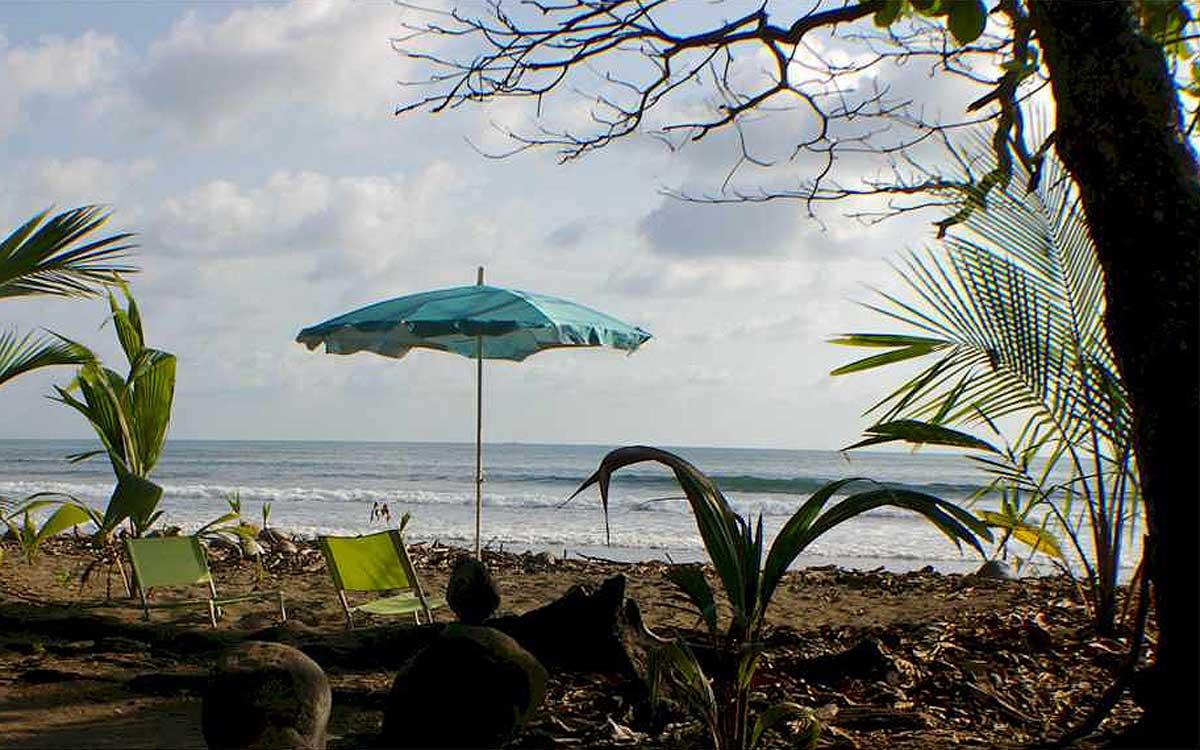 Uvita resort secluded beach.