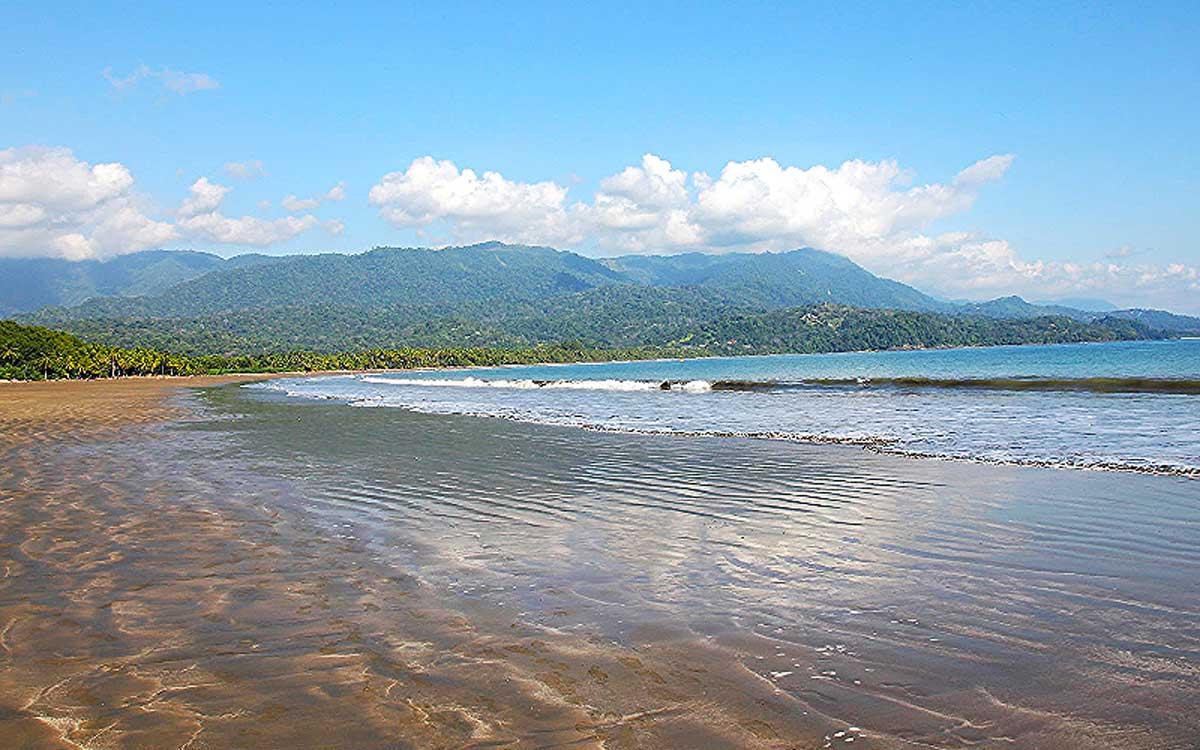 Costa Rica Uvita Beach view.