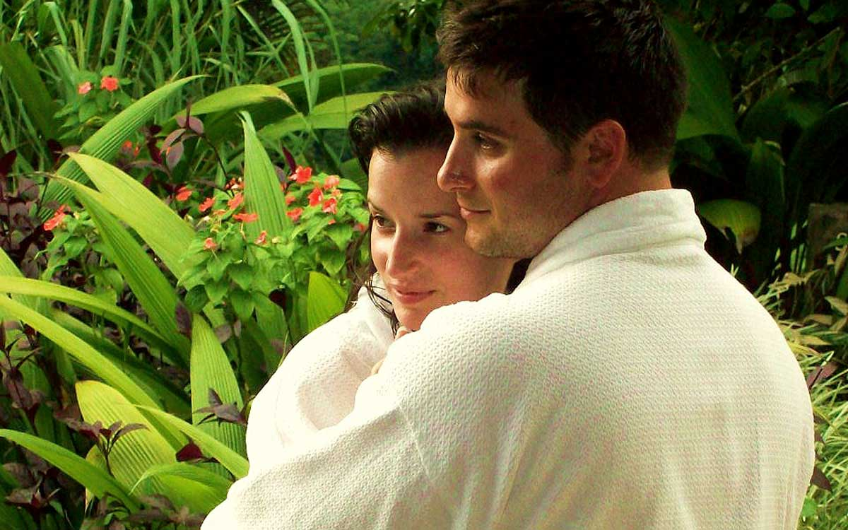 Couple during their honeymoon in Costa Rica at Rancho Pacifico.