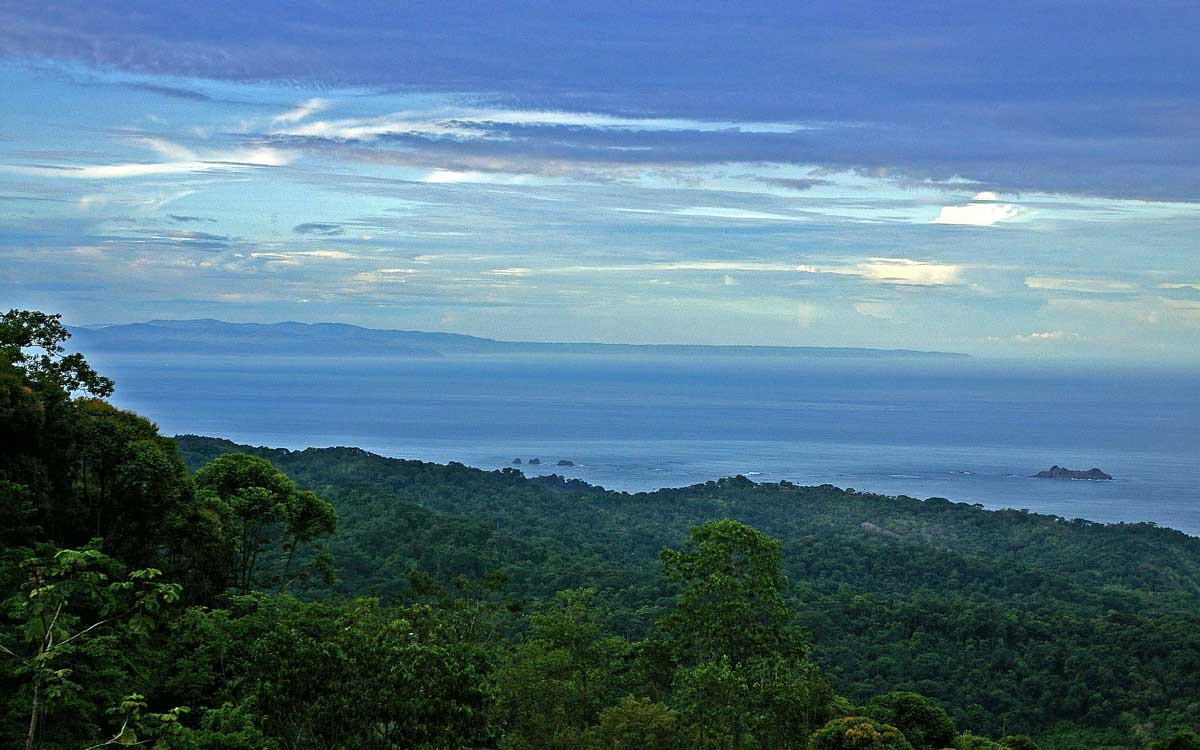 Views of Corcovado National Park from the Rancho Pacifico Costa Rica luxury resort.