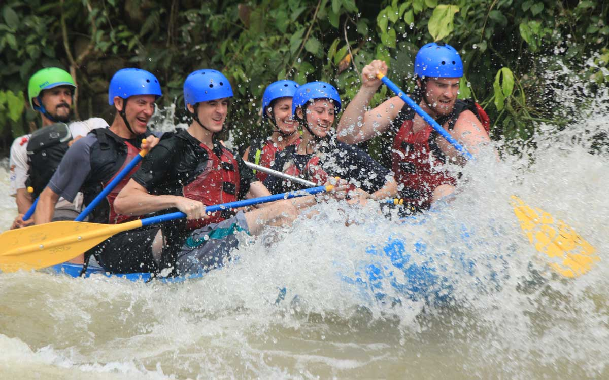 River rafting as part of Costa Rica adventure vacation