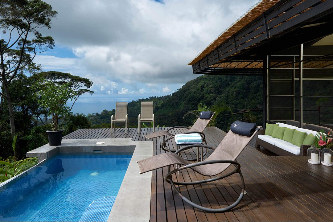 Pool-side deck of one of our Costa Rica luxury villas