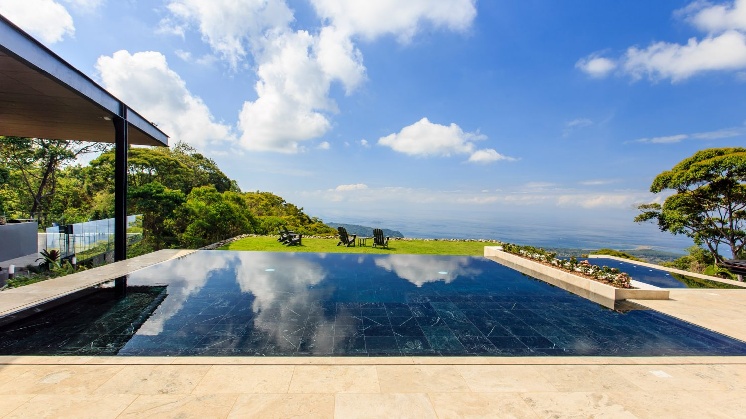 The infinity pool at the Rancho Pacifico Costa Rica luxury resort.