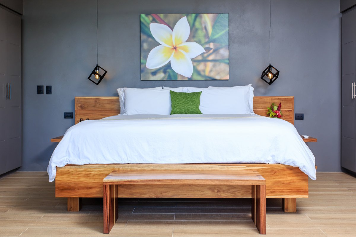 Hand made King size beds in all our Costa Rica suites.