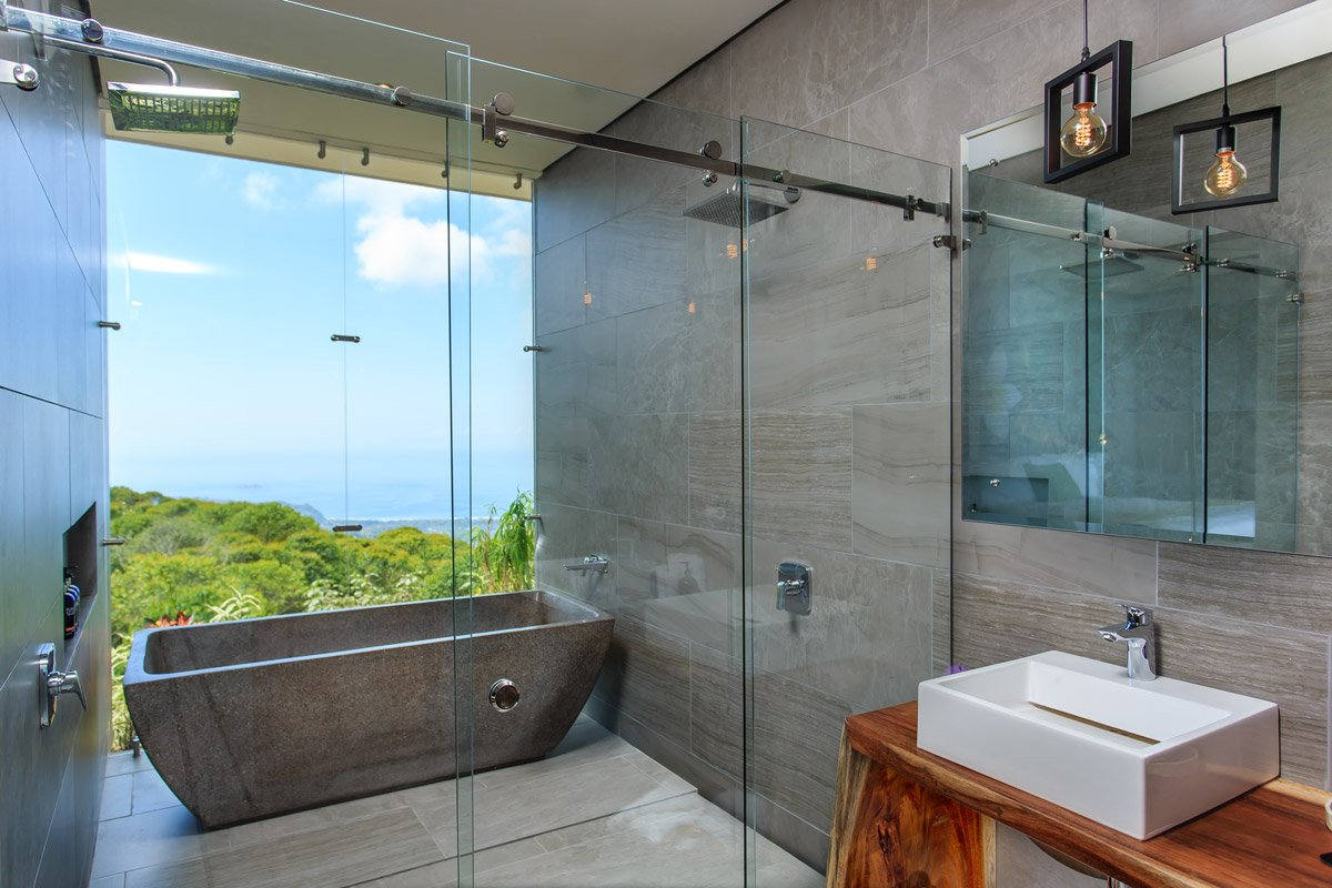 Luxurious bathroom in one of our Costa Rica suites.