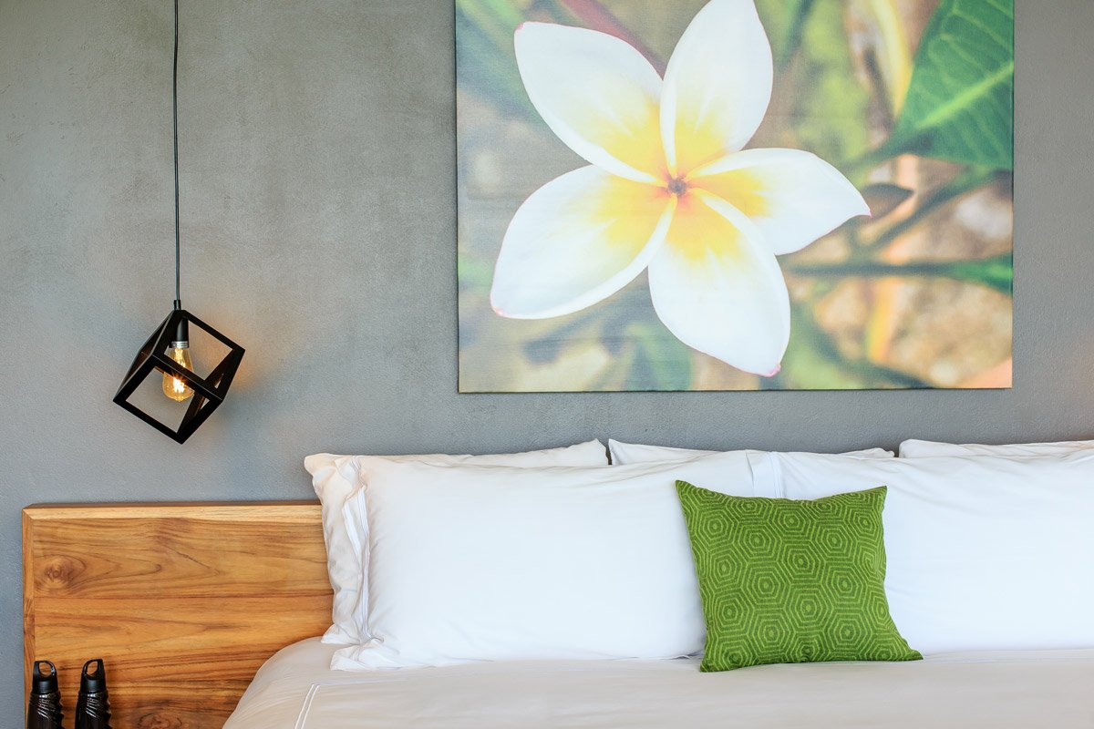 Luxurious bedding in our Costa Rica suites.