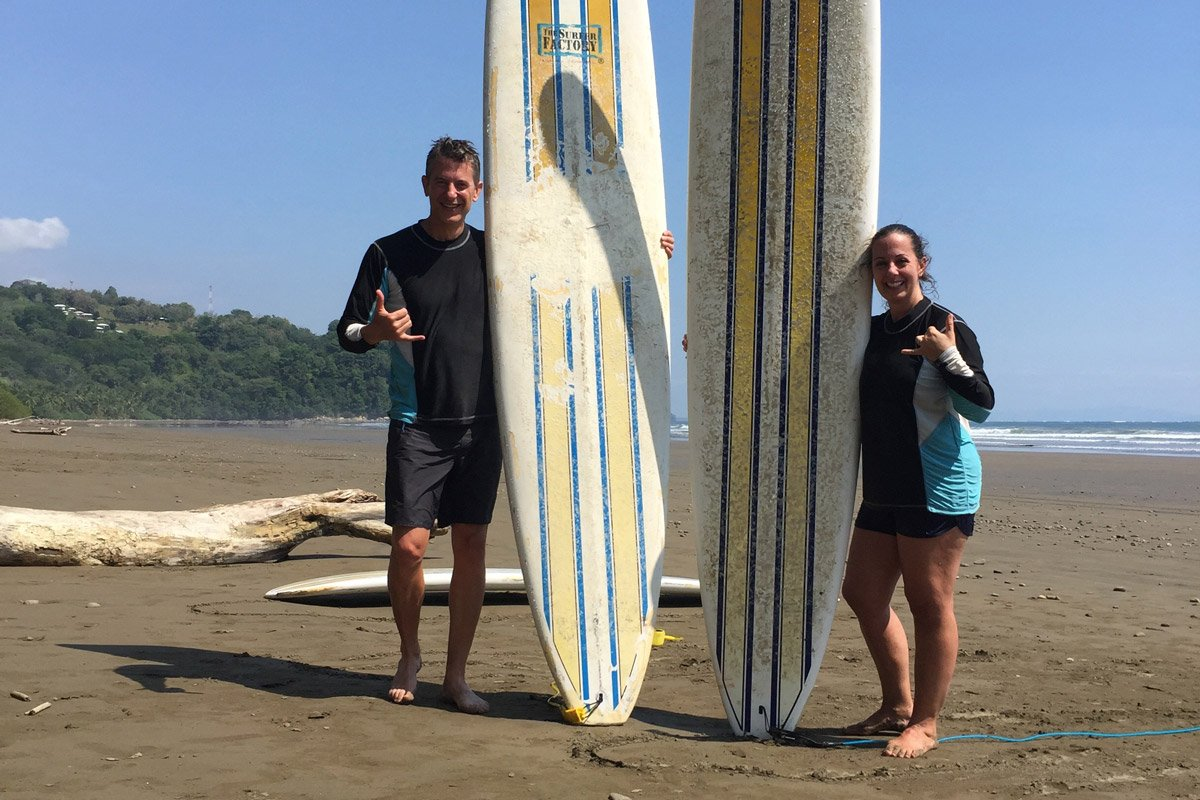 Your Costa Rica honeymoon can include surfing and other adventures!
