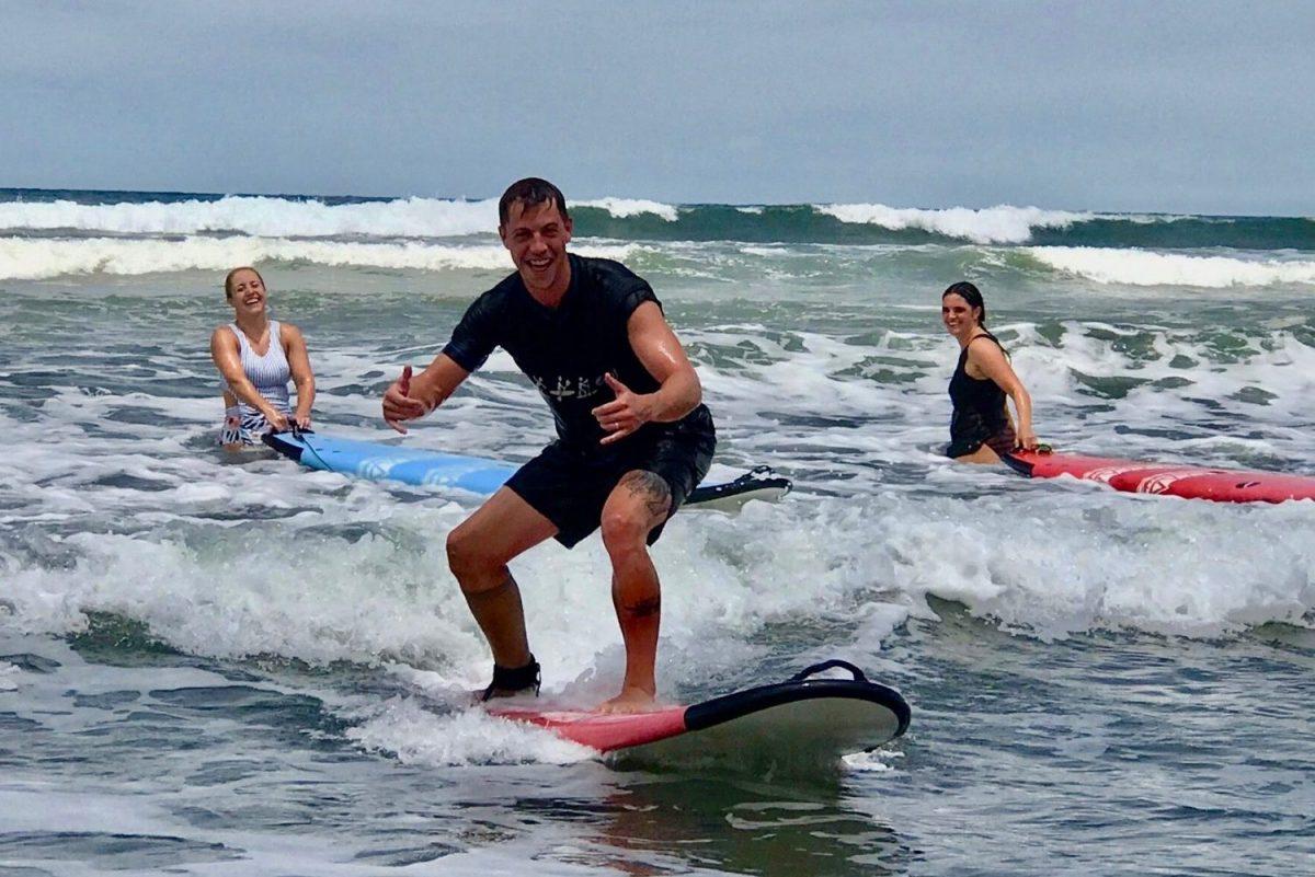 Surfing near Rancho Pacifico